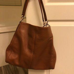 Coach purse, pebble leather